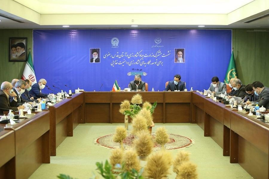 توافق دولت و آستان قدس رضوی برای توسعه همکاریها در عرصه کشاورزی